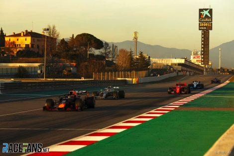 Pierre Gasly, Valtteri Bottas, Sebastian Vettel, Circuit de Catalunya, 2019