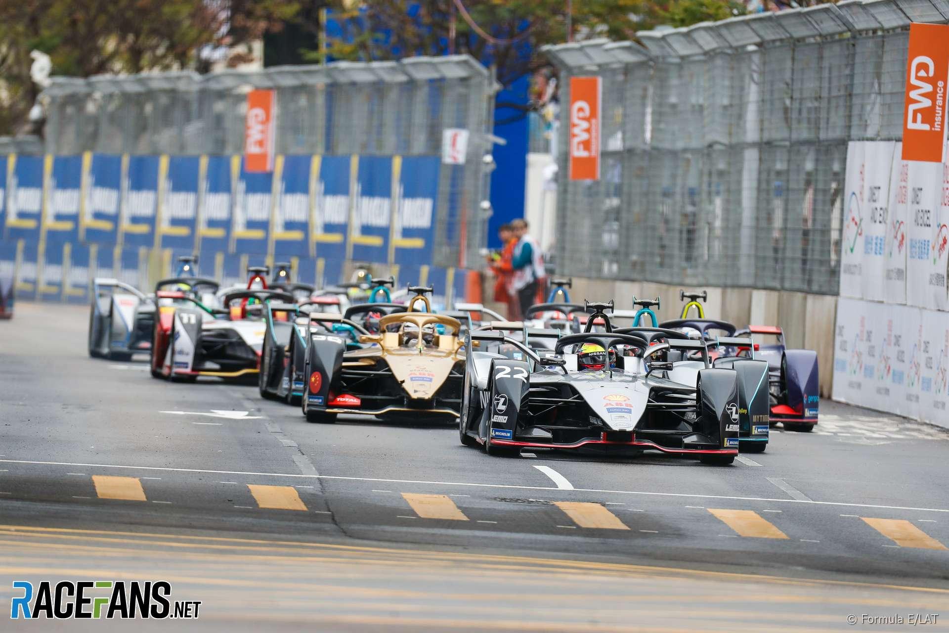 Start, Formula E, Hong Kong, 2019