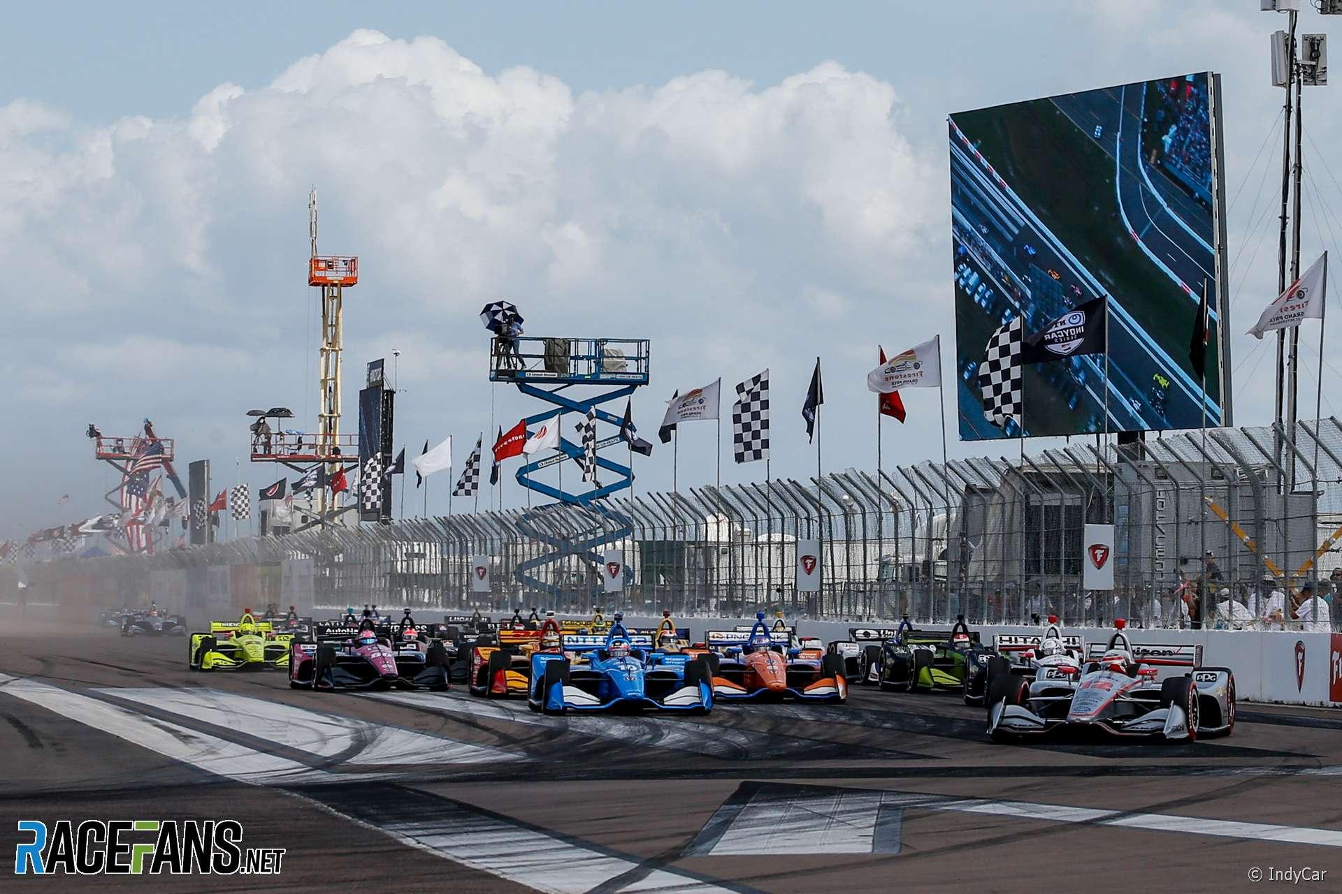 Start, IndyCar, St Petersburg, 2019