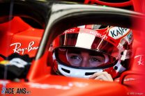"""Leclerc """"not happy with myself"""" after errors on Ferrari debut"""