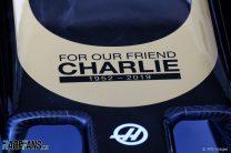 Haas Charlie Whiting tribute, Albert Park, 2019