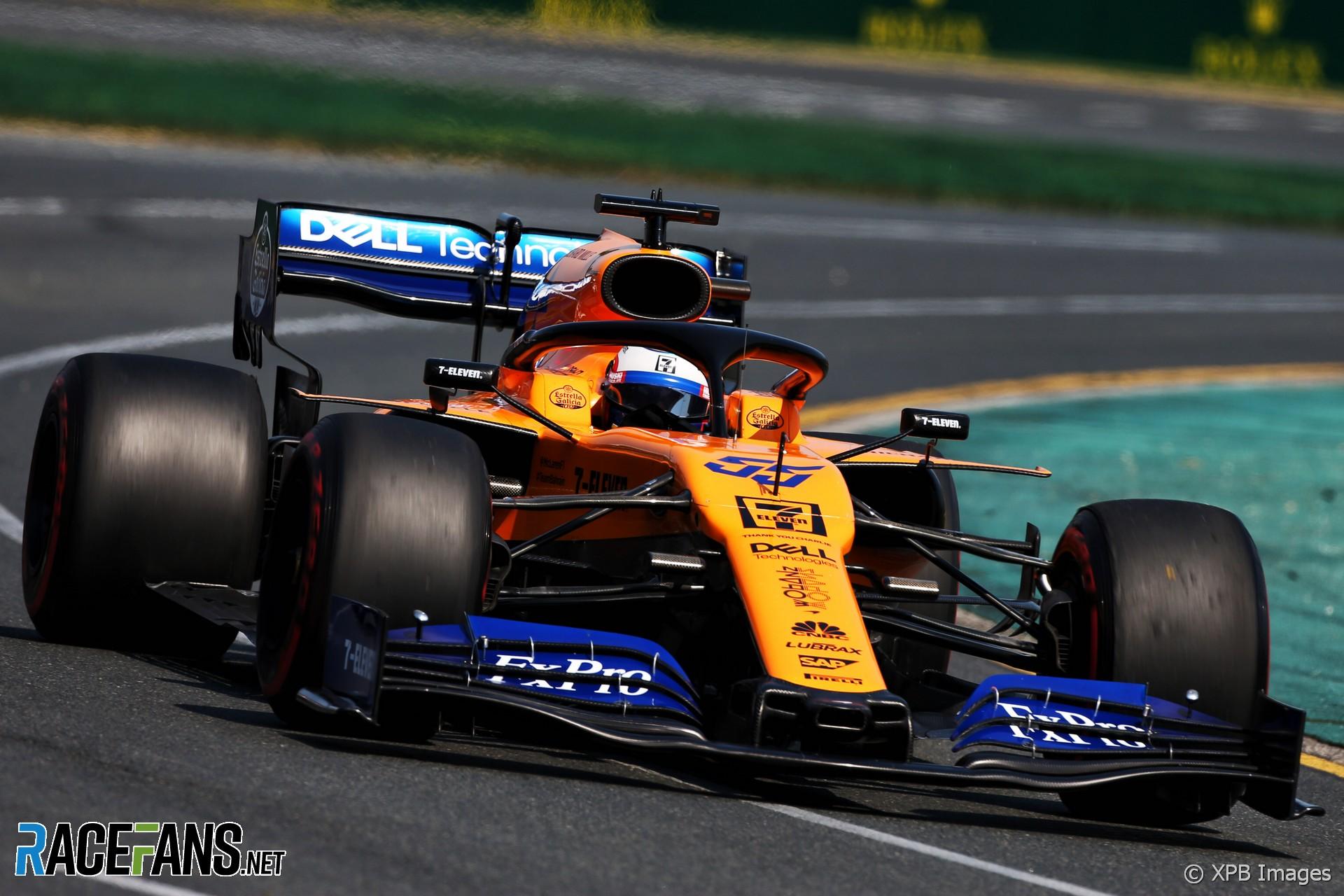 Carlos Sainz Jnr, McLaren, Albert Park, 2019