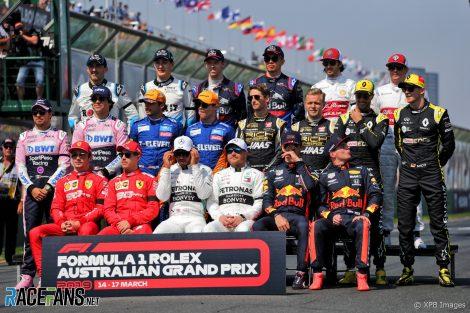 F1 drivers, Melbourne, Albert Park, 2019