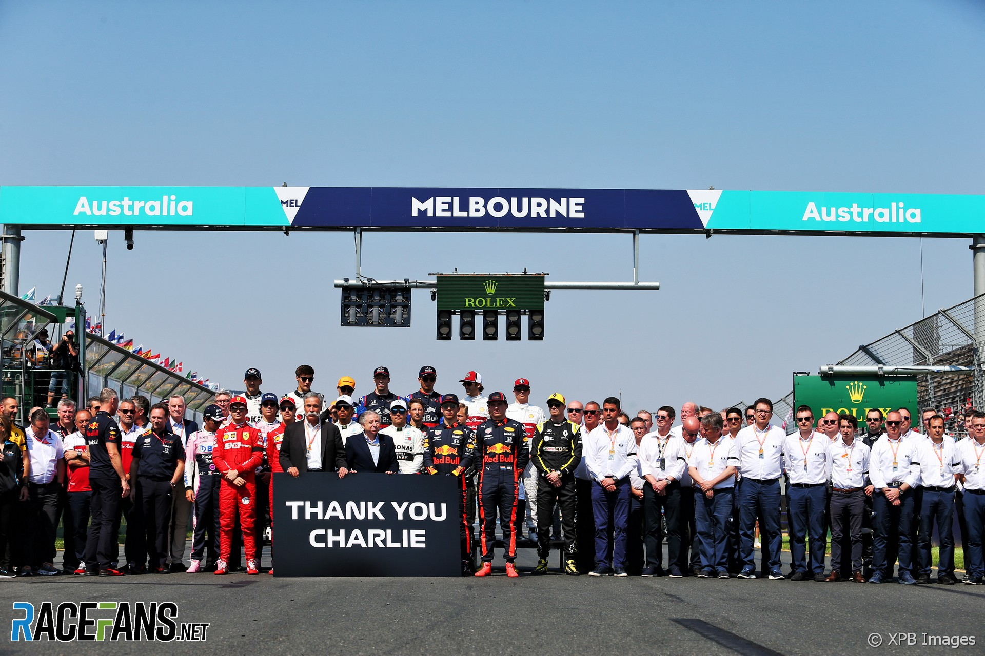 Tribute to Charlie Whiting, Albert Park, 2019
