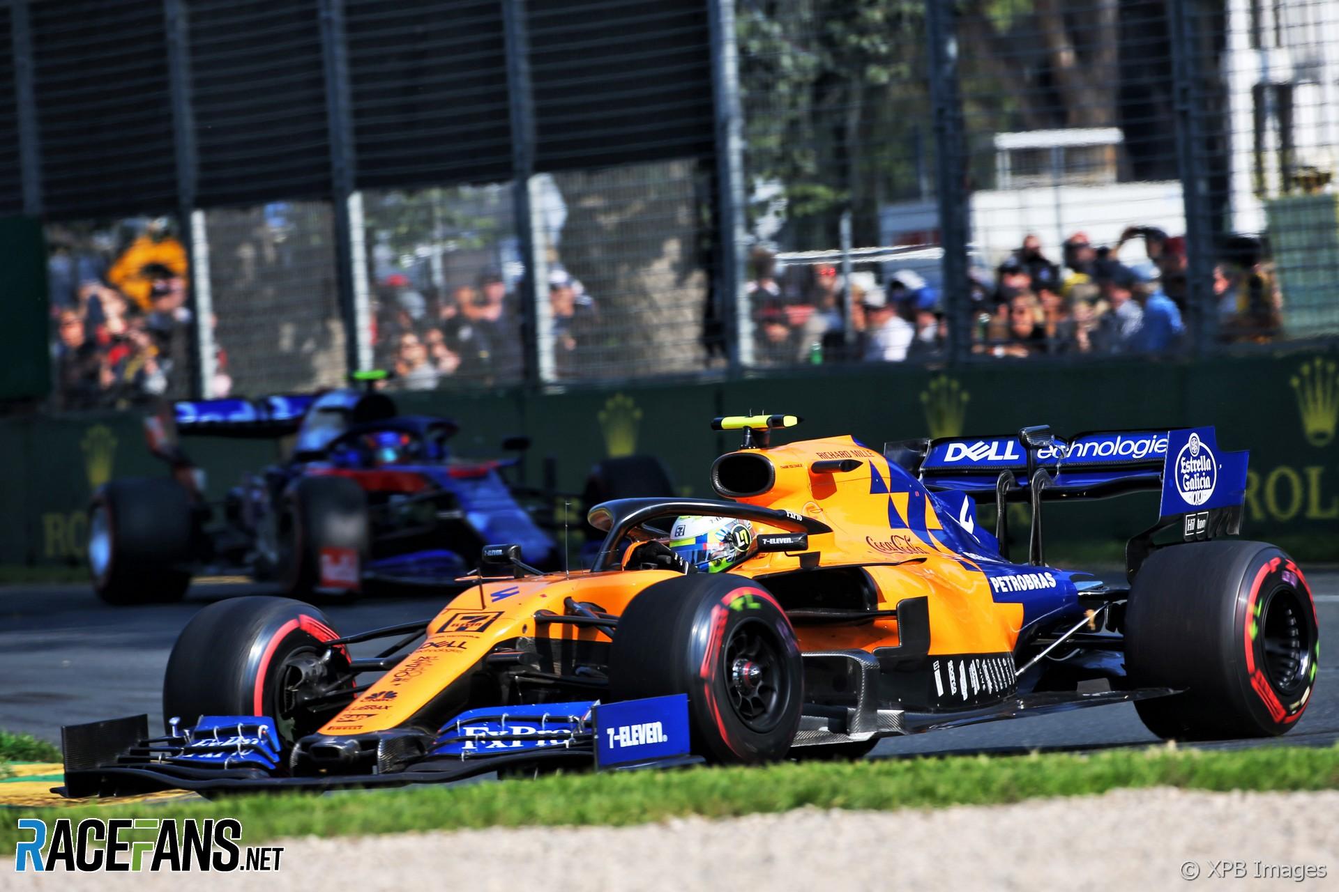 Lando Norris, McLaren, Albert Park, 2019