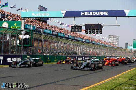 Start, Albert Park, Melbourne, 2019