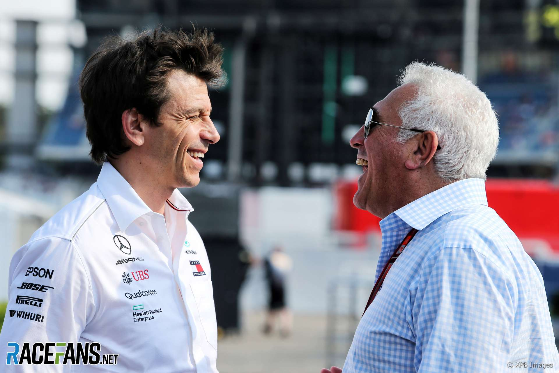 Toto Wolff, Lawrence Stroll, 2018