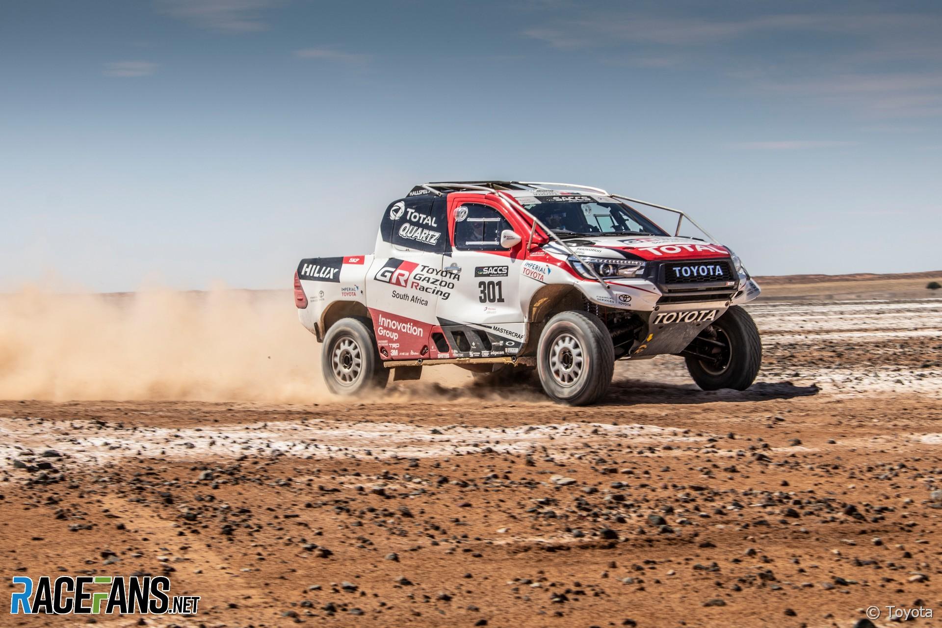Fernando Alonso, Toyota Hilux Dakar test, 2019