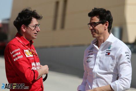 Mattia Binotto, Toto Wolff, Bahrain International Circuit, 2019