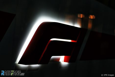 F1 logo, Bahrain International Circuit, 2019