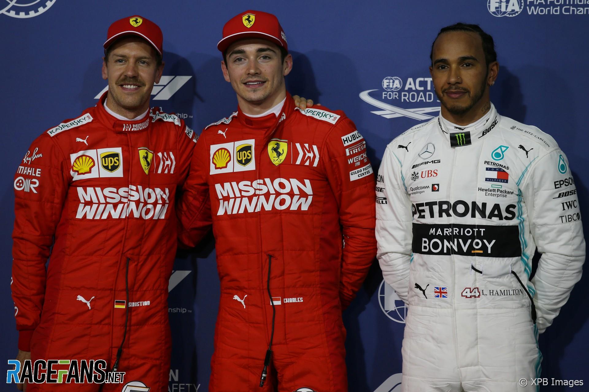Charles Leclerc, Sebastian Vettel, Lewis Hamilton, Bahrain International Circuit, 2019