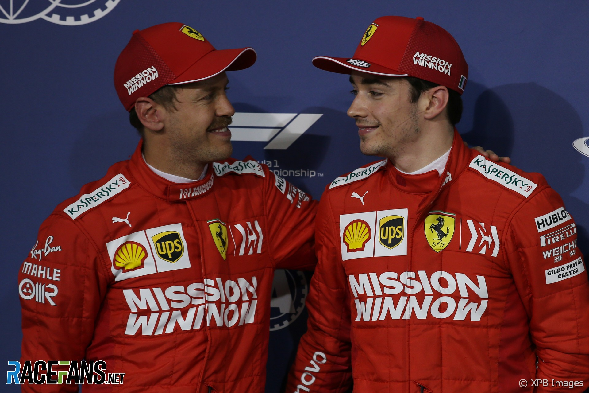 Sebastian Vettel, Charles Leclerc, Ferrari, Bahrain International Circuit, 2019