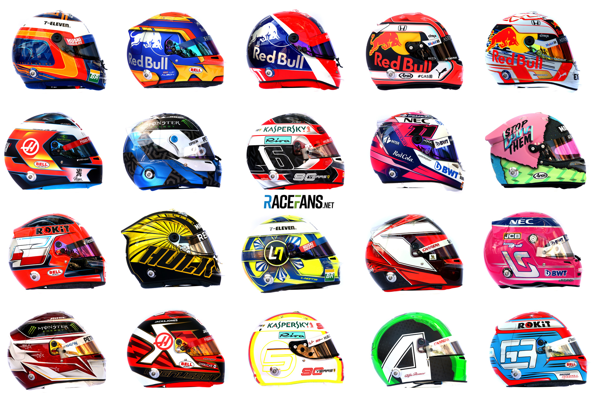 Pictures Every F1 Driver S Helmet For The 2019 Season Racefans