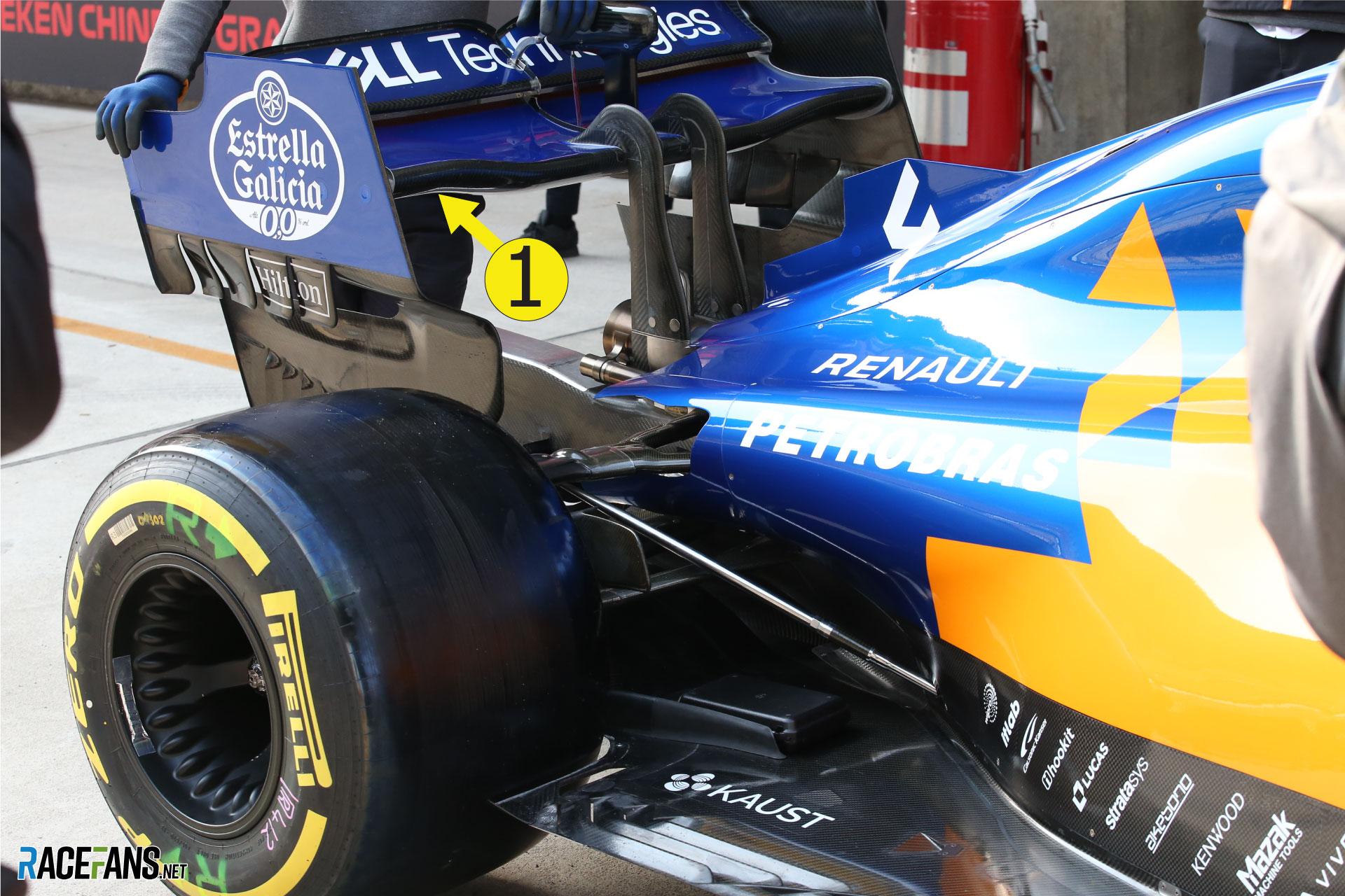 McLaren rear wing, Shanghai International Circuit, 2019