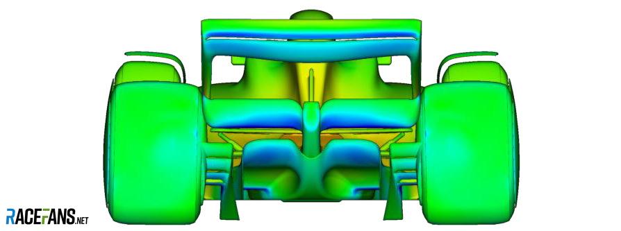 F1 2021 concept aerodynamics, rear