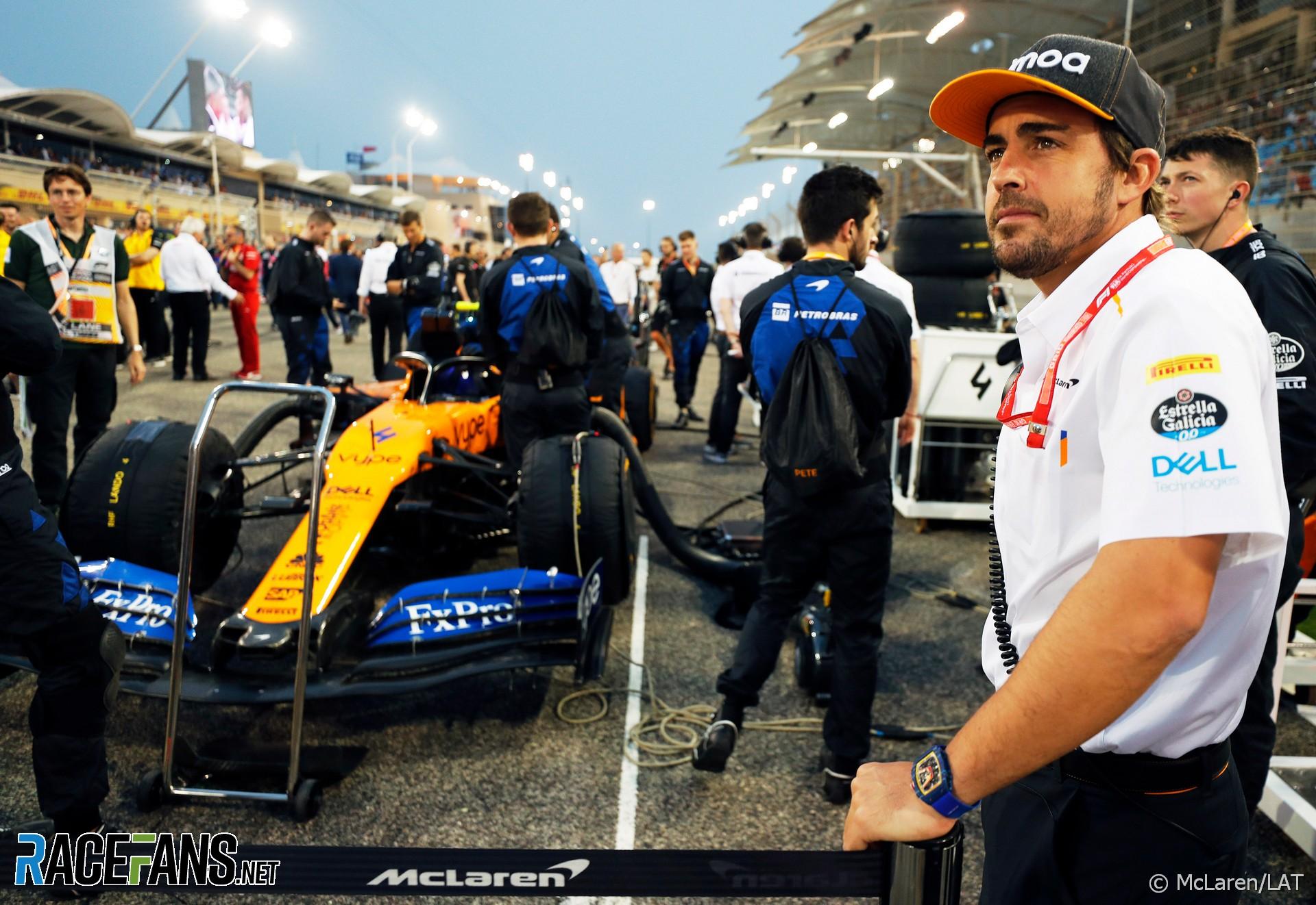 Fernando Alonso, McLaren, Bahrain International Circuit, 2019