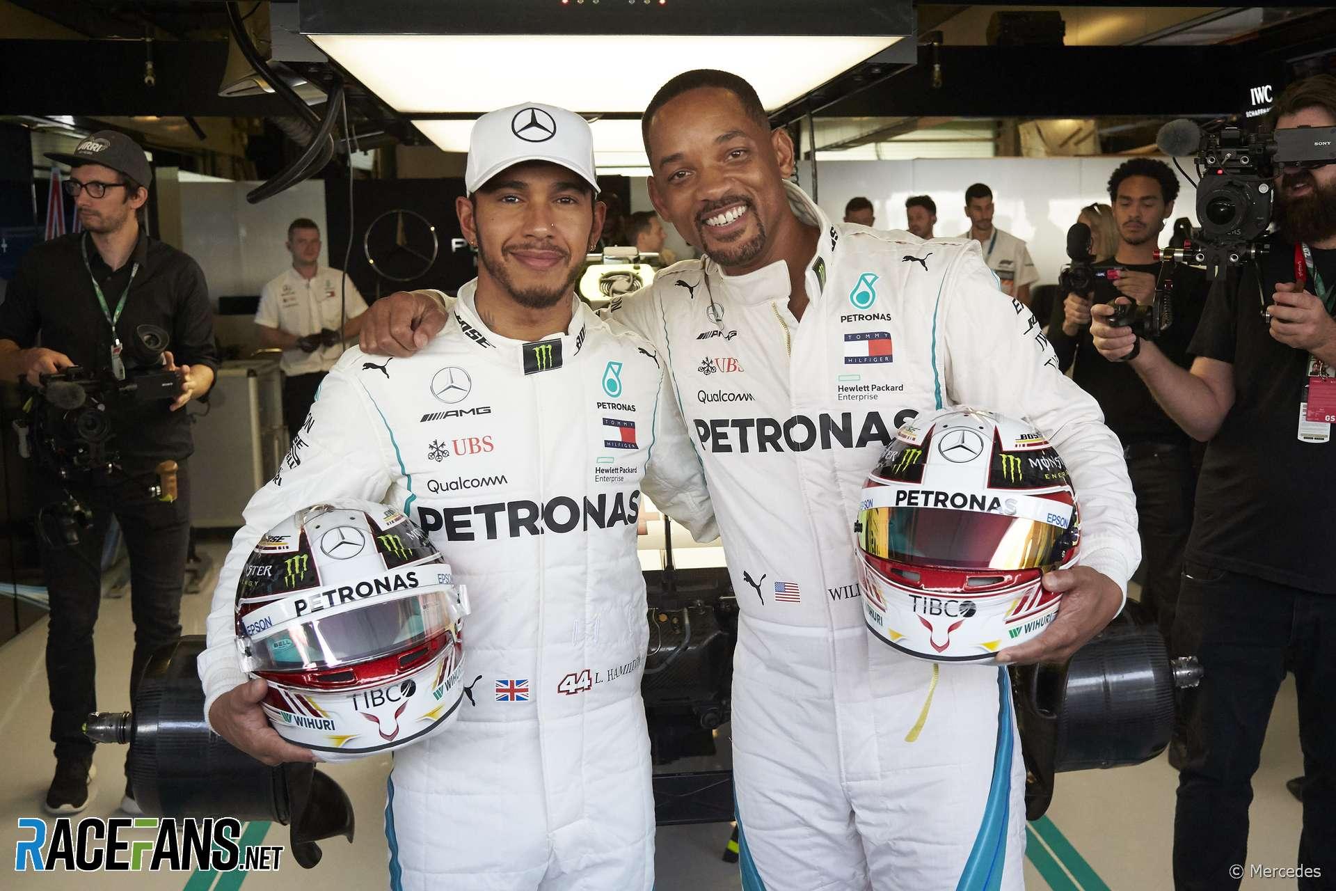 Lewis Hamilton, Will Smith, Yas Marina, 2018