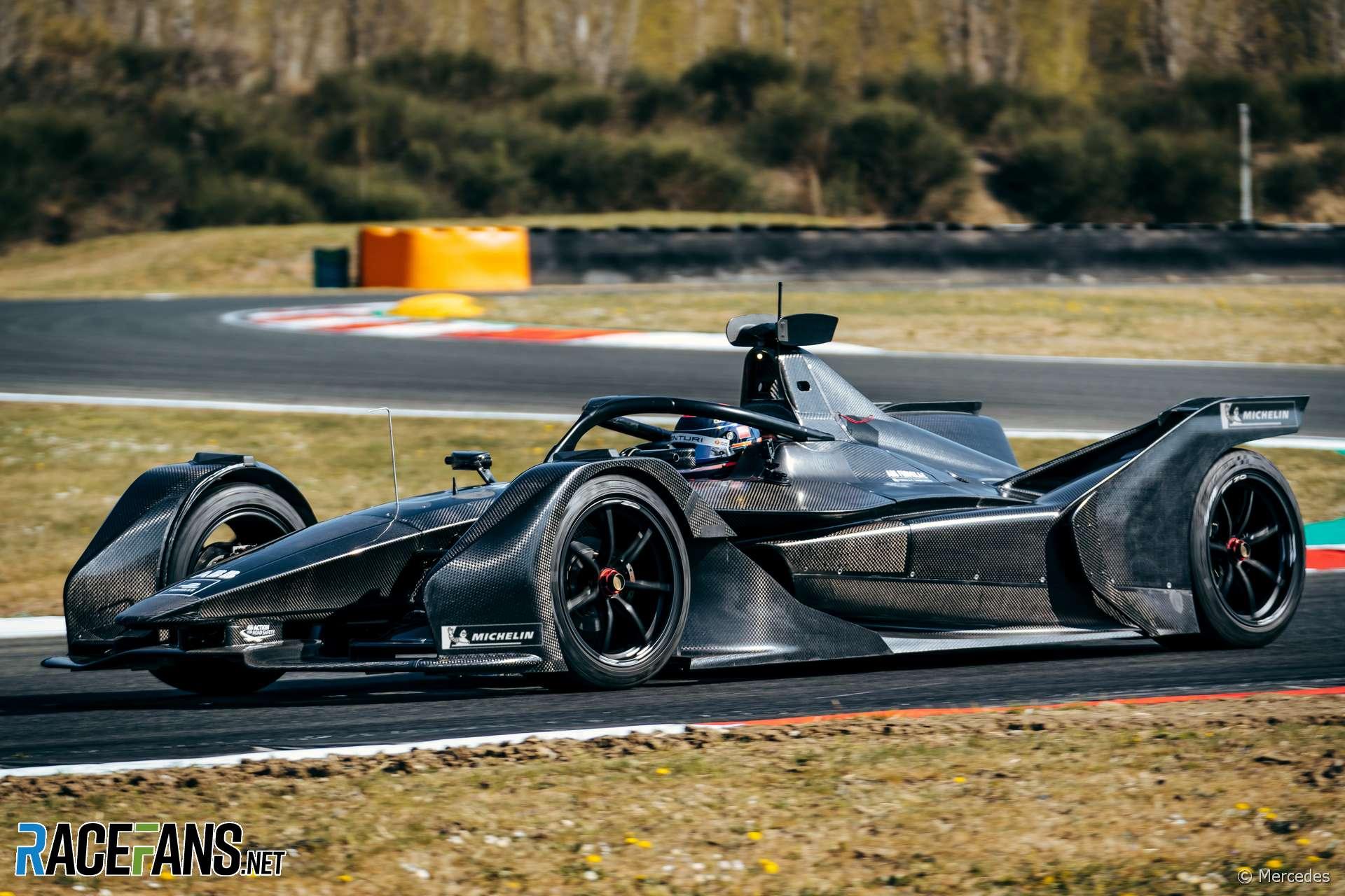 Mercedes Formula E car test, Varano, 2019