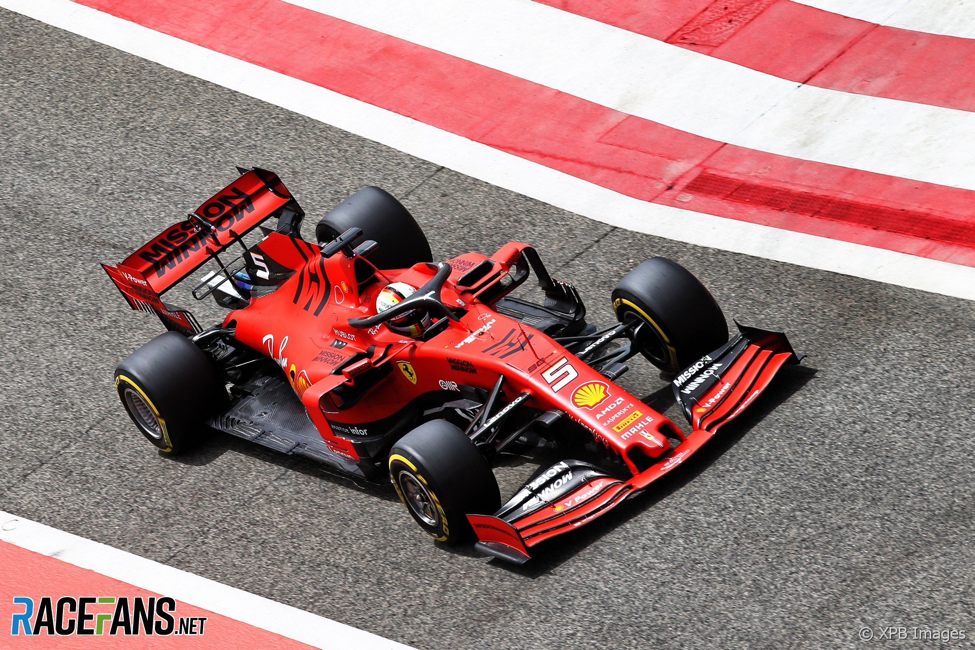 Sebastian Vettel, Ferrari, Bahrain International Circuit