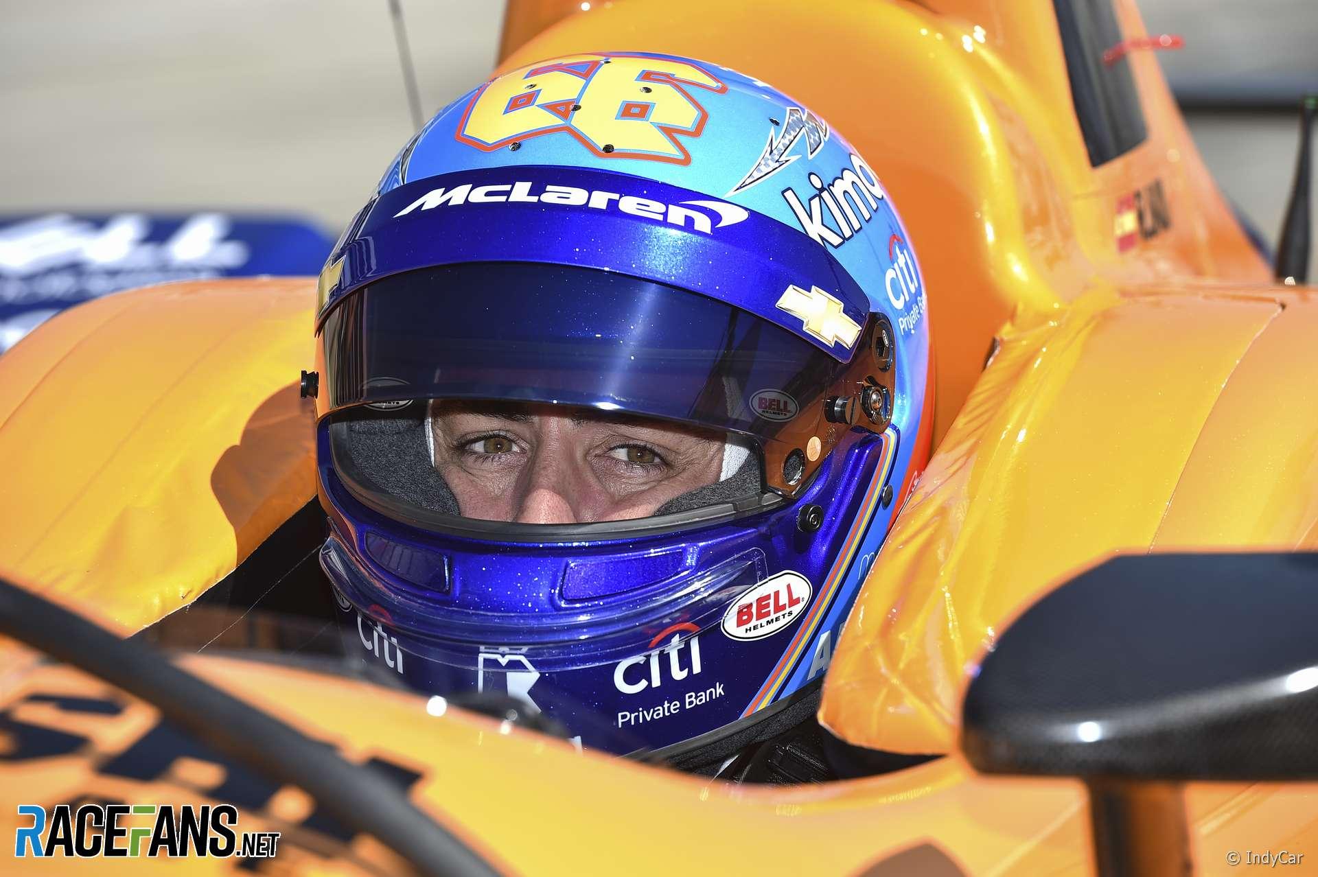 Fernando Alonso, McLaren, IndyCar, Texas Motor Speedway, 2019