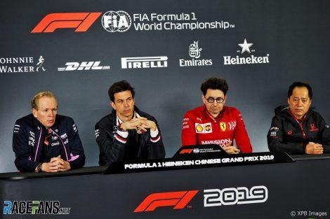 FIA press conference, Shanghai International Circuit, 2019