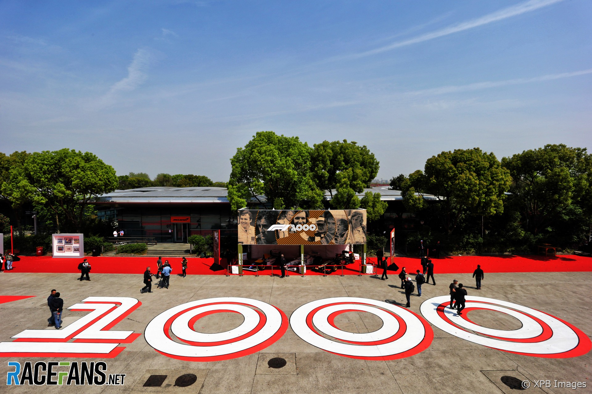 1,000th race signage, Shanghai International Circuit, 2019