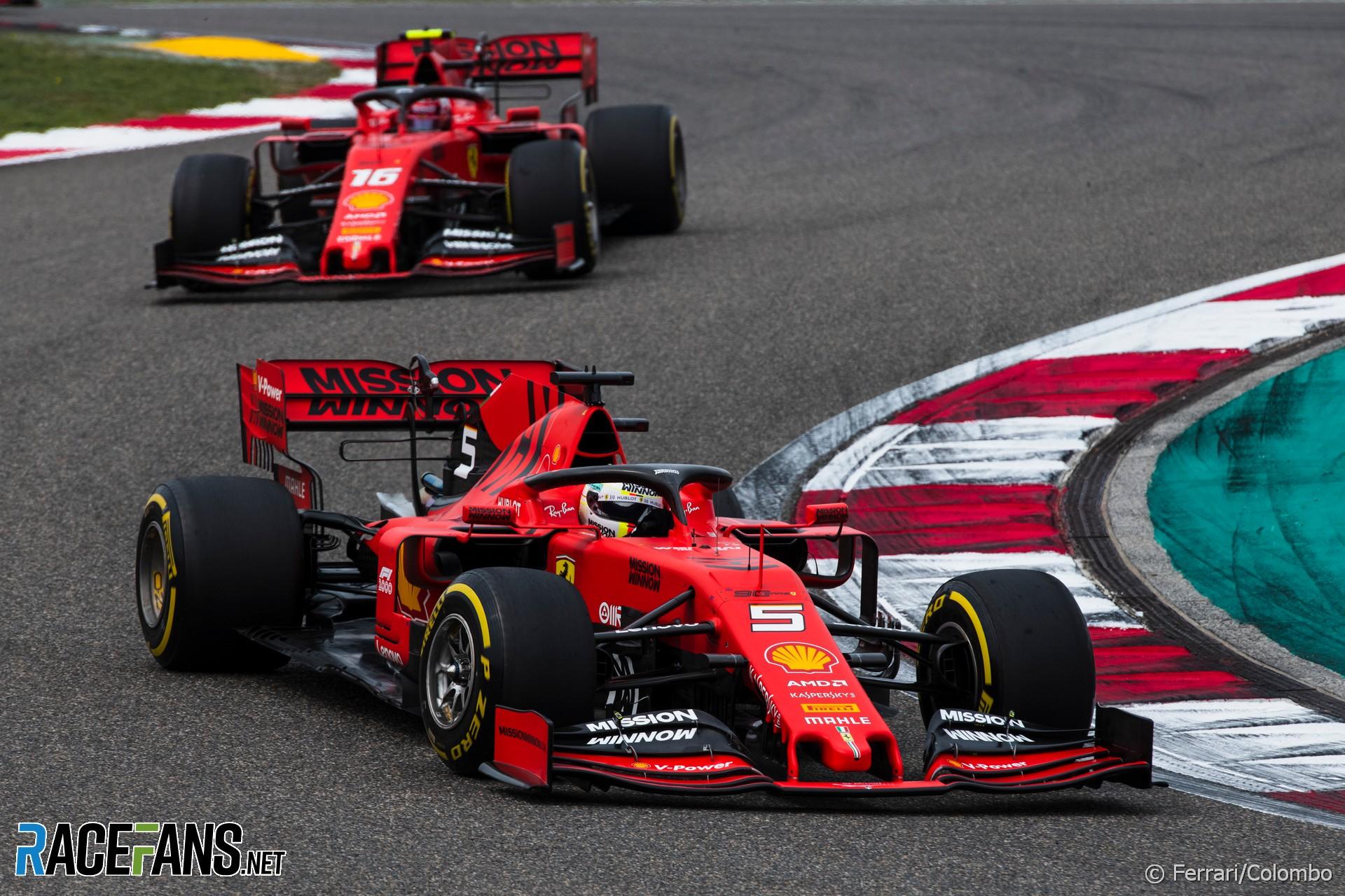 Sebastian Vettel, Ferrari, Shanghai International Circuit, 2019