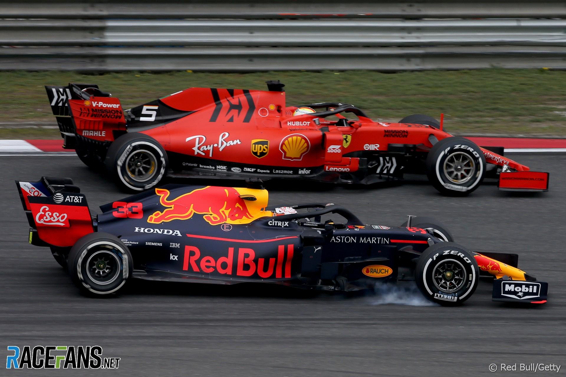 Sebastian Vettel, Max Verstappen, Shanghai International Circuit, 2019