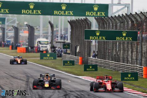Max Verstappen, Sebastian Vettel, Shanghai International Circuit, 2019