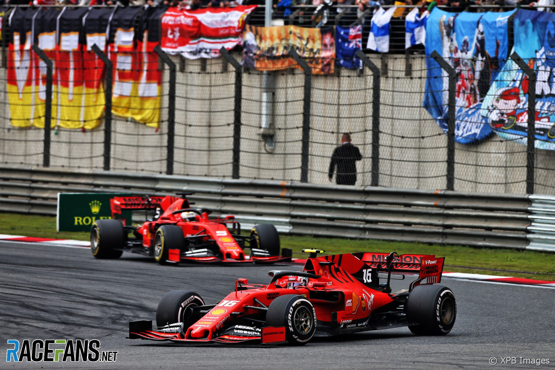 Charles Leclerc, Sebastian Vettel, Ferrari, Shanghai International Circuit, 2019