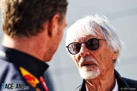 Christian Horner, Bernie Ecclestone, Baku, 2019