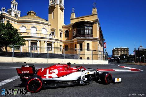Kimi Raikkonen, Alfa Romeo, Baku City Circuit, 2019
