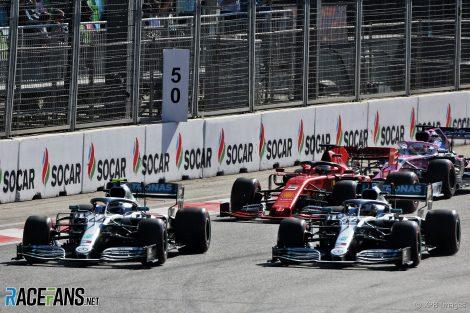 Valtteri Bottas, Mercedes, Baku City Circuit, 2019