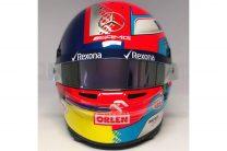 Russell explains 'split' Montoya helmet design for 1000th race