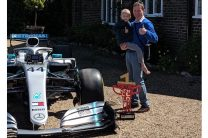 Mercedes sends F1 car and Hamilton's Spanish GP trophy to home of terminally ill fan