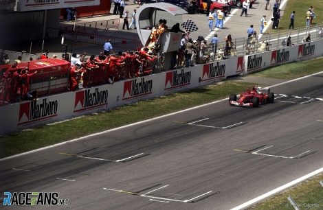 Michael Schumacher, Ferrari, Circuit de Catalunya, 2003