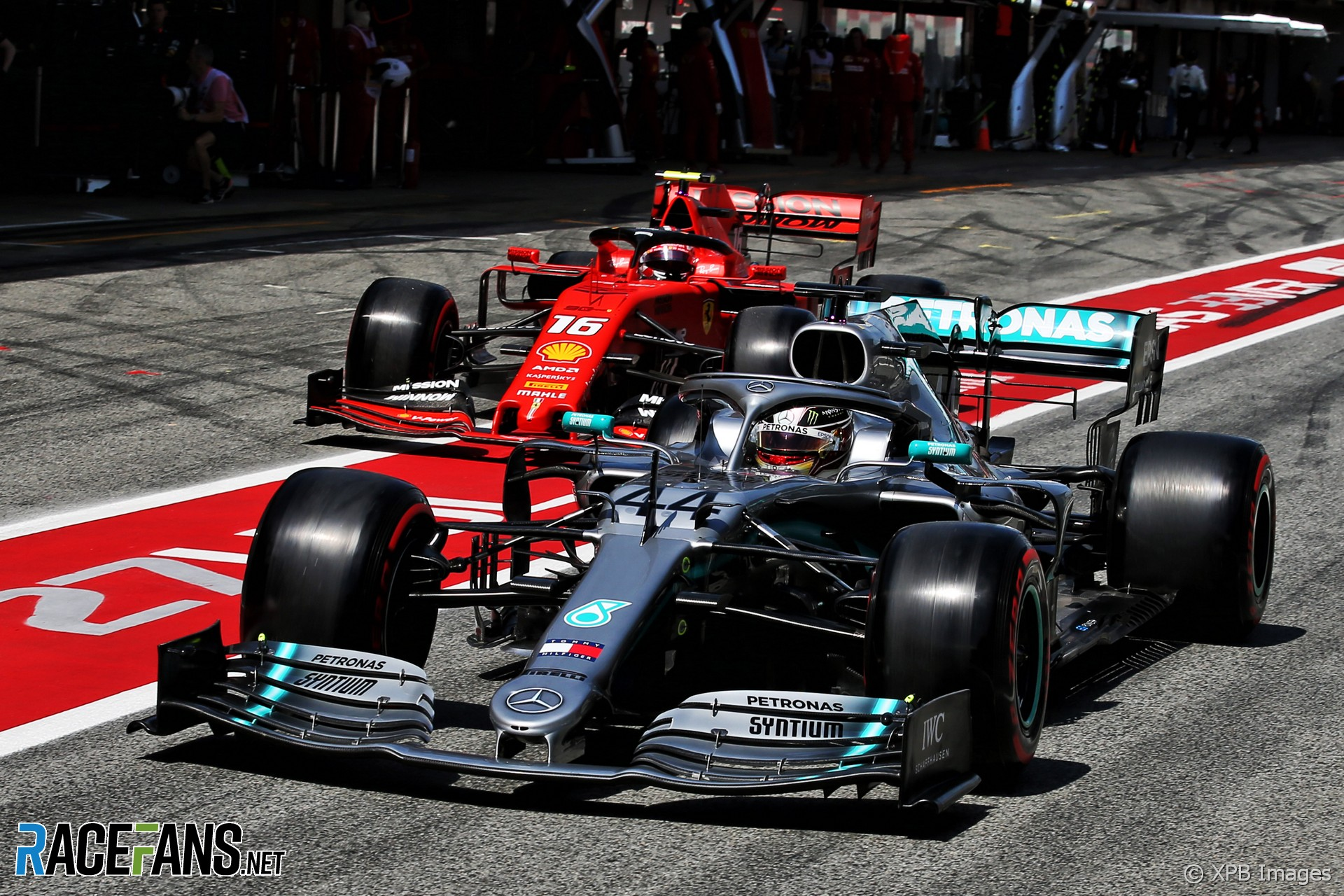 Lewis Hamilton, Charles Leclerc, Circuit de Catalunya, 2019
