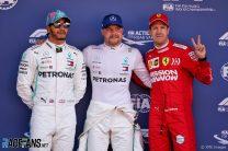 Lewis Hamilton, Valtteri Bottas, Sebastian Vettel, Circuit de Catalunya, 2019