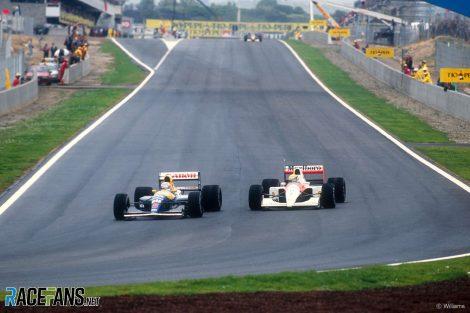 Nigel Mansell, Ayrton Senna, Circuit de Catalunya, 1991