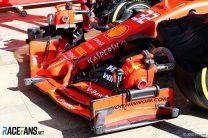 Ferrari front wing, Circuit de Catalunya