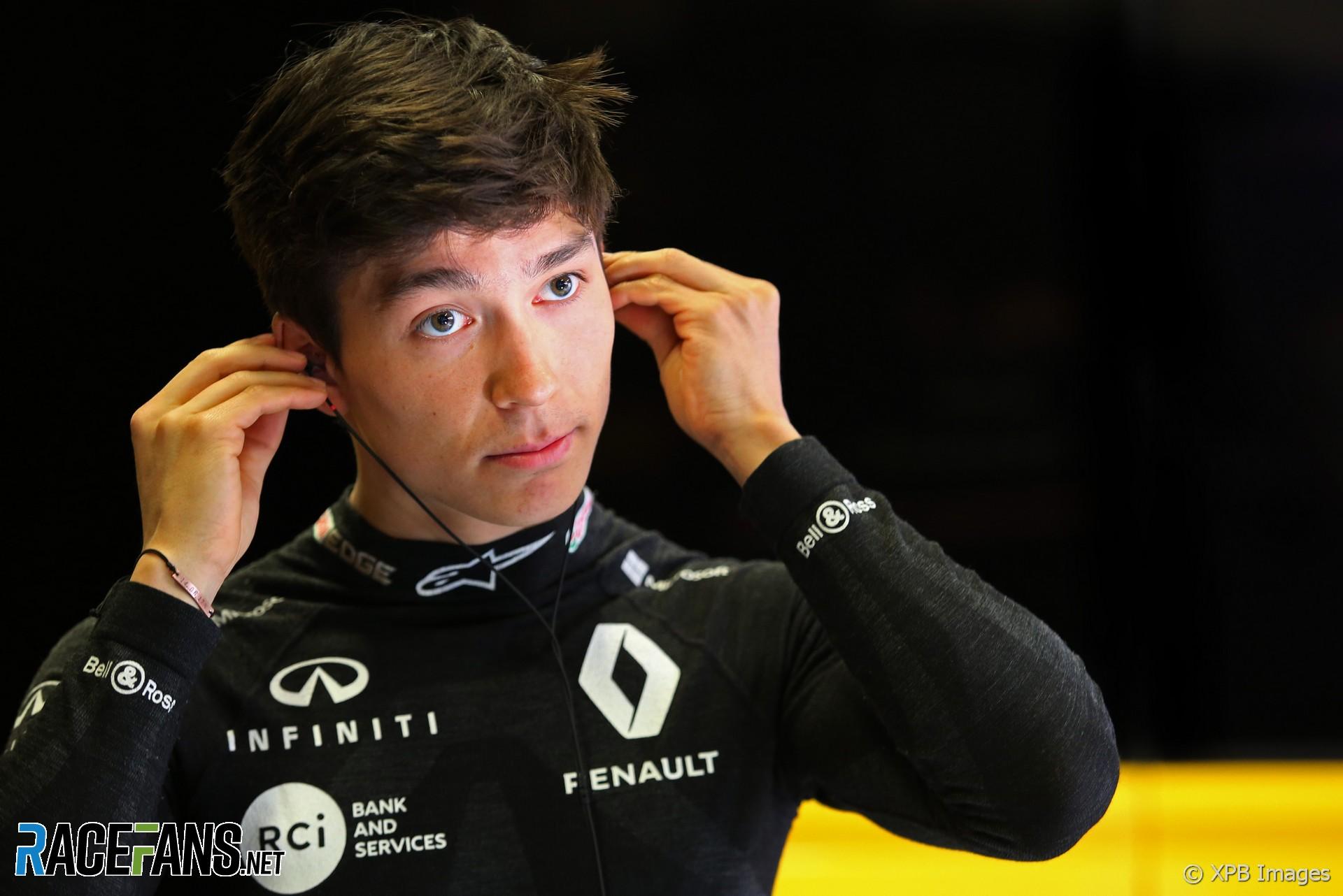 Jack Aitken, Renault, Circuit de Catalunya