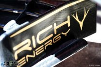 Rich Energy logos, Haas, Circuit de Catalunya, 2019