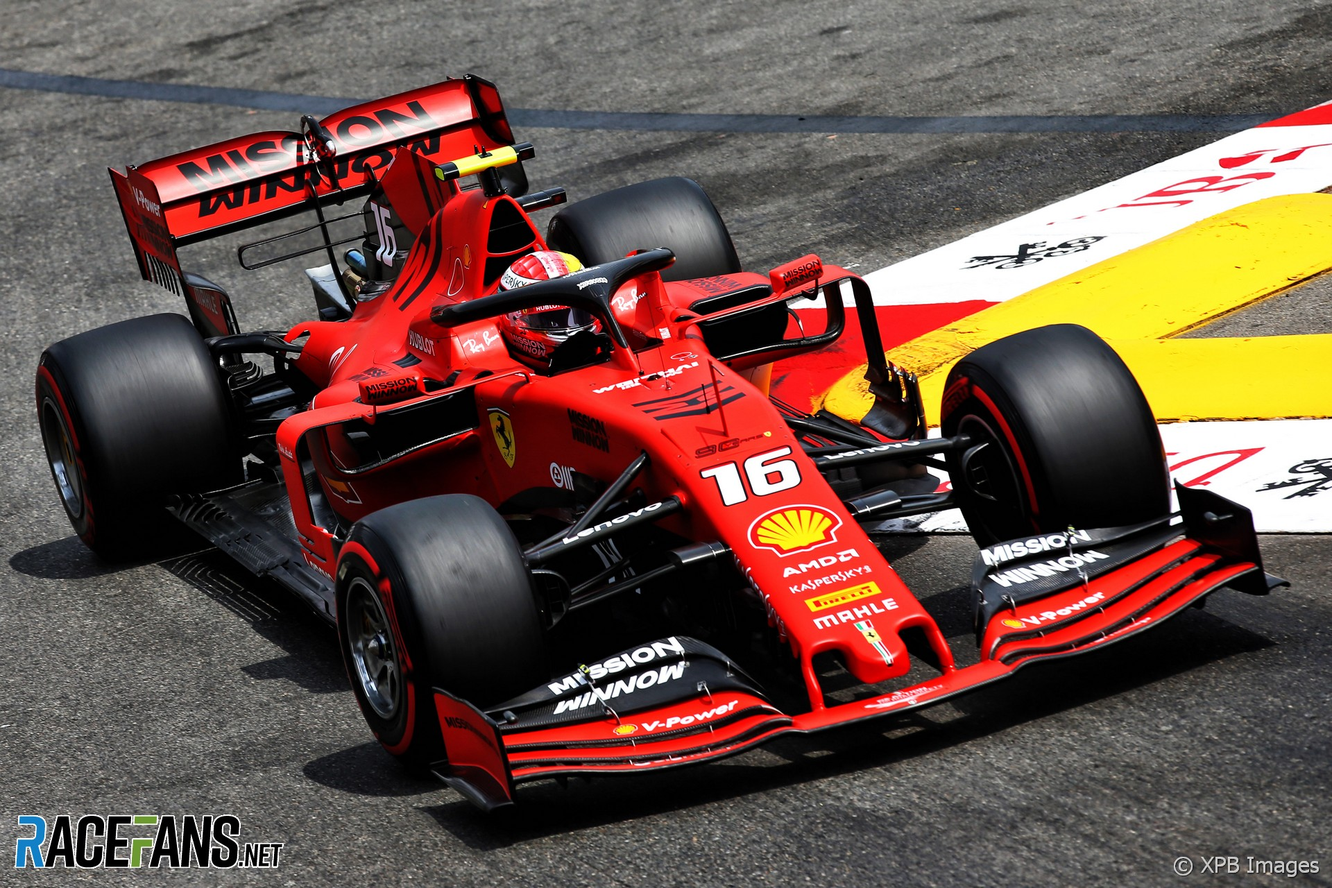 Charles Leclerc, Ferrari, Monaco, 2019