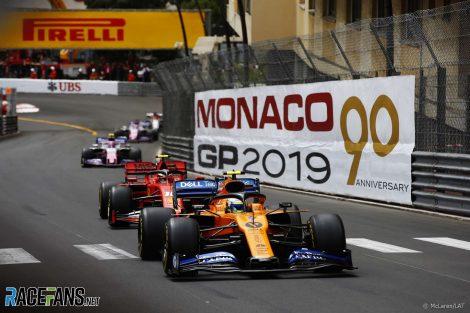 Lando Norris, McLaren, Monaco, 2019