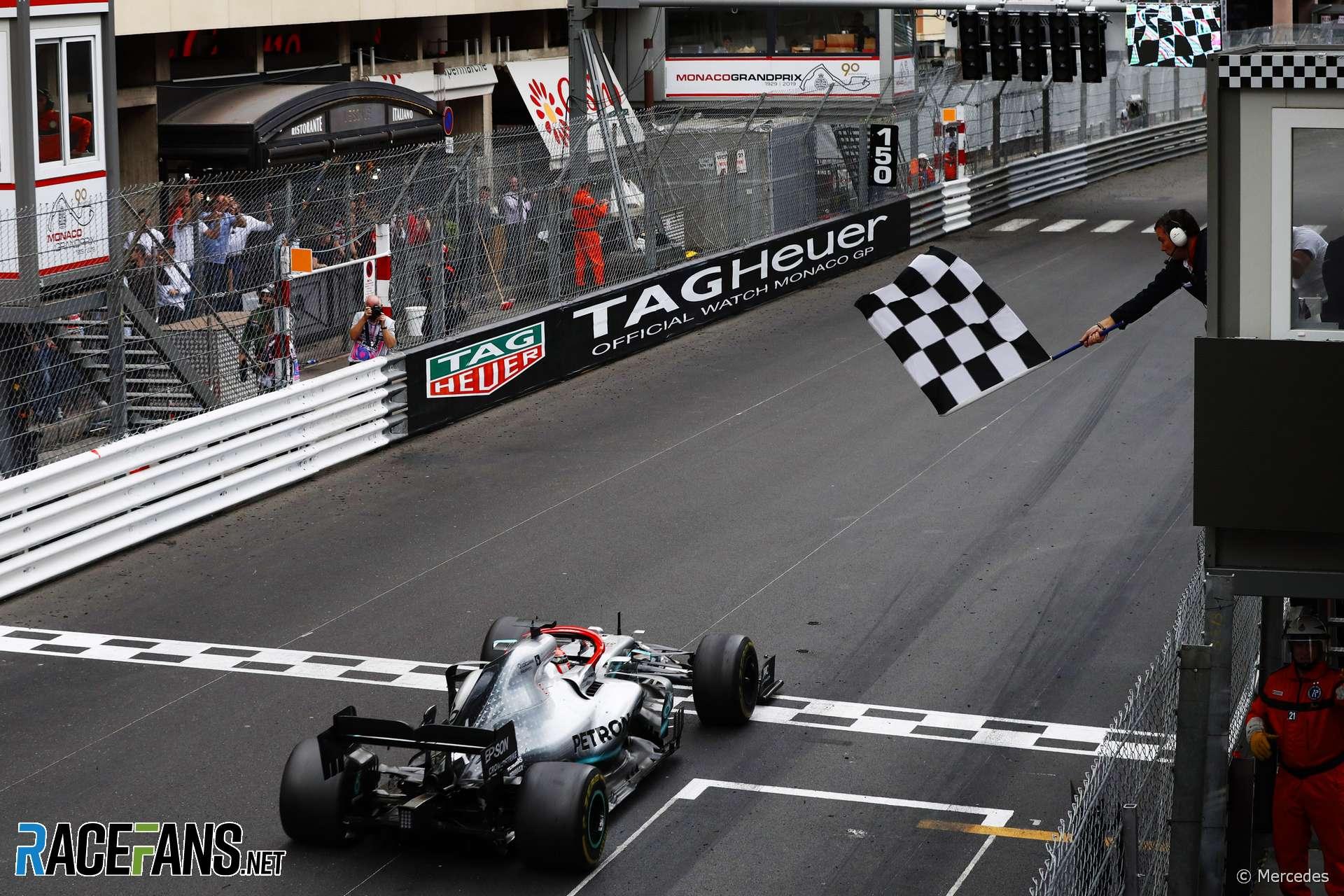 Lewis Hamilton, Mercedes, Monaco, 2019 · RaceFans