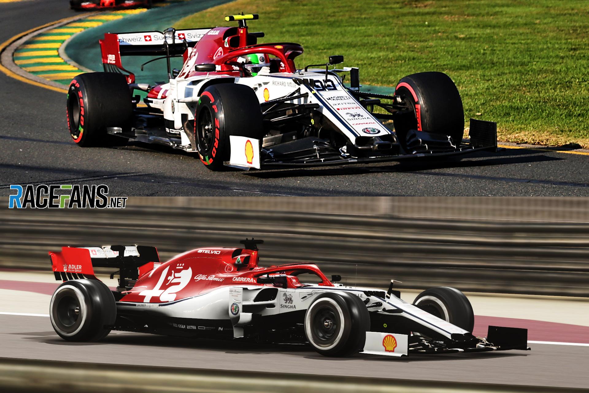 F1 2019 car comparison
