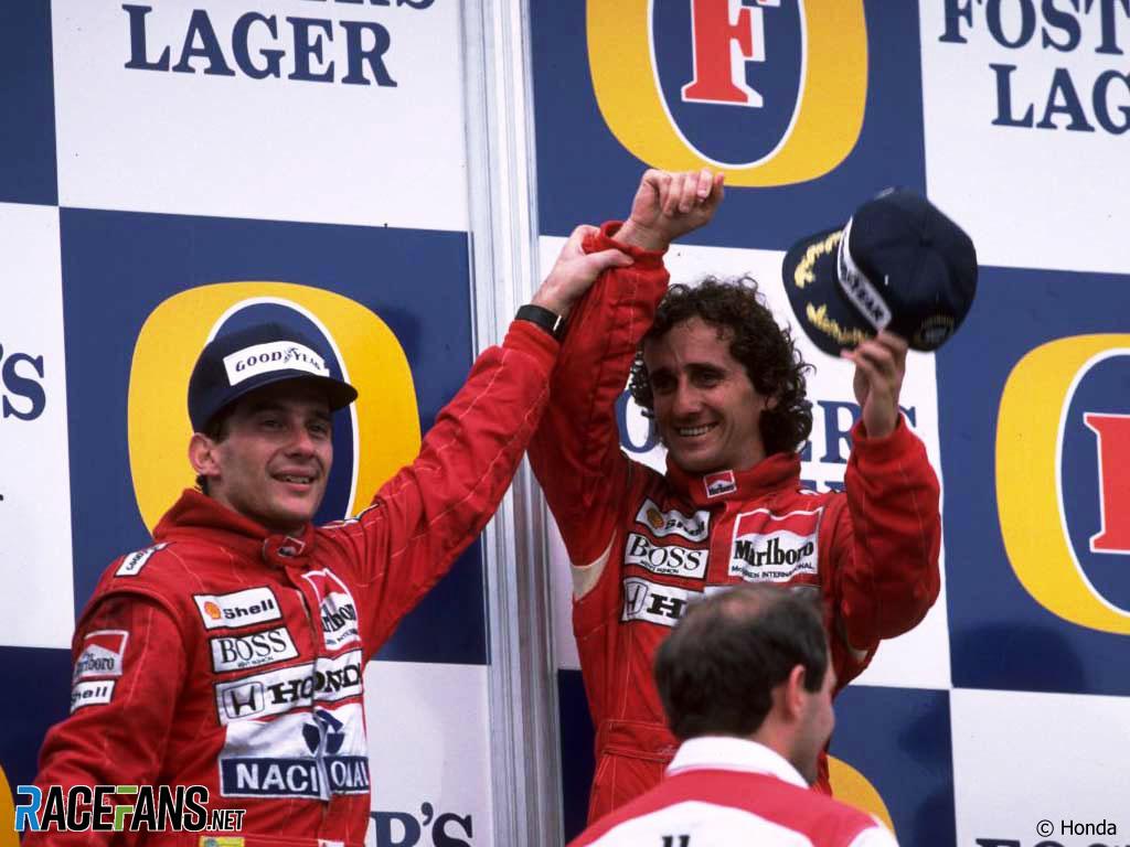 Alain Prost, Ayrton Senna, McLaren, Adelaide, 1988