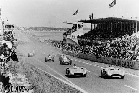 Karl Kling, Juan Manuel Fangio, Mercedes, Reims, 1954