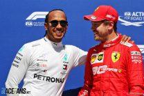 "Hamilton: Ferrari have the ""party mode"" now"