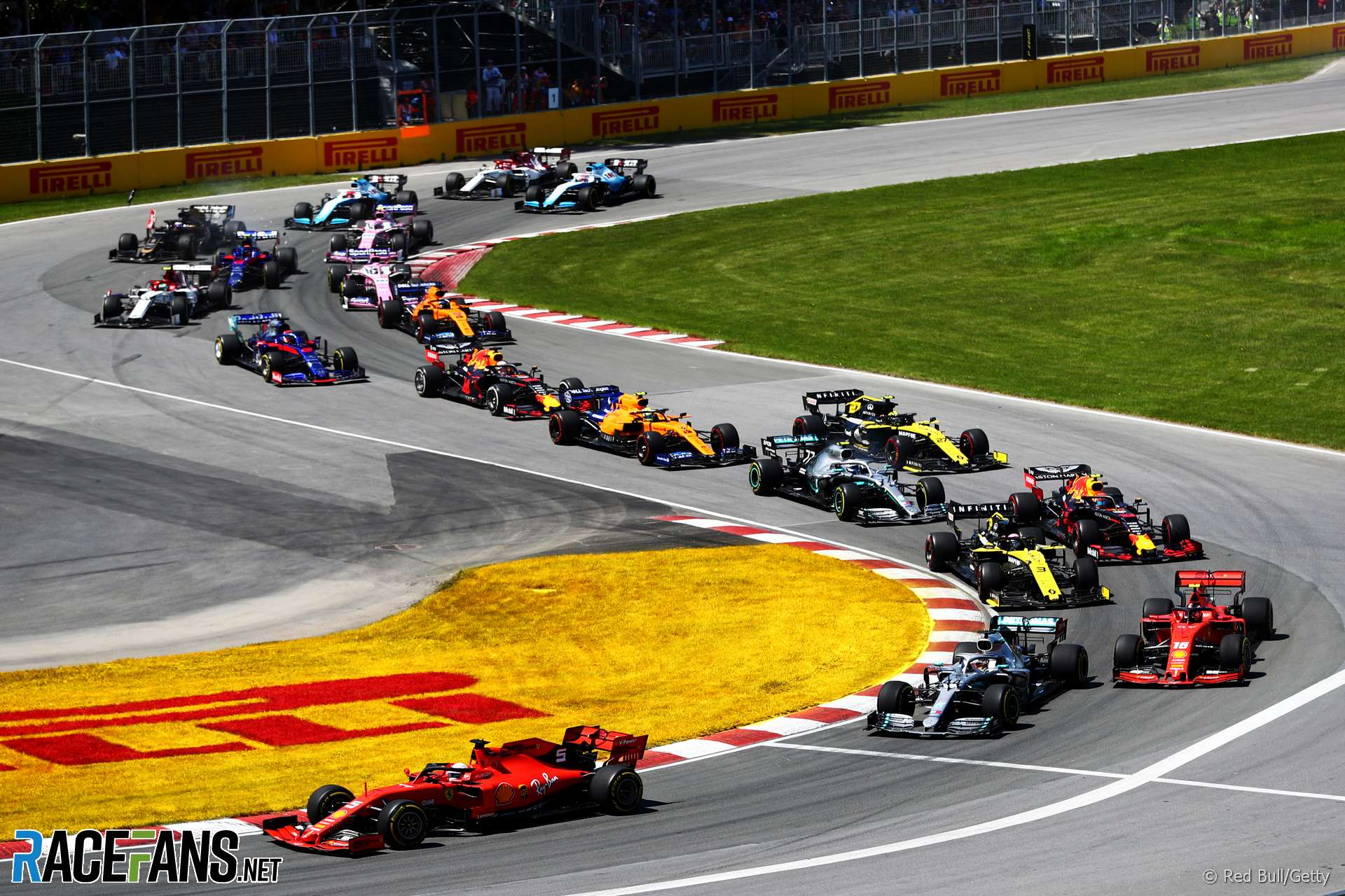 Start, Circuit Gilles Villeneuve, 2019
